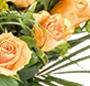 Trandafiri portocalii deluxe