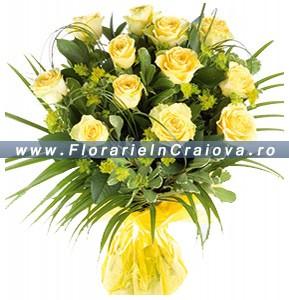 Trandafiri galbeni deluxe